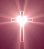 Kierowy więź uczuciowa krzyża jaśnienia światła raca Obraz Royalty Free