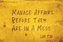 Kieruje sprawy Lao Tzu zdjęcie stock