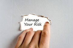 Kieruje twój ryzyko teksta pojęcie Fotografia Stock
