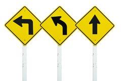kierunek odizolowywający setu znaka symbolu ruch drogowy Zdjęcia Stock