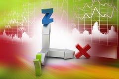 Kierunek x, y i z oś, Zdjęcie Stock