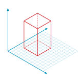 Kierunek x y i z osi wektor Obraz Stock
