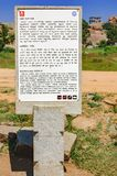 Kierunkowskaz o Badavilinga świątyni w Hampi, India obraz royalty free