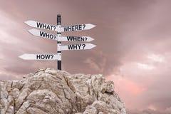 Kierunkowskaz z strzała, pojęcie z analizą dla sukcesu, biznesu i edukaci obraz stock