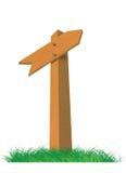 Kierunku drewniany znak Ilustracja Wektor