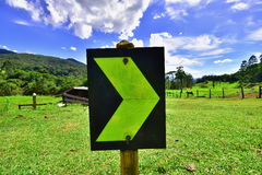 kierunku podążać Brazylia obraz stock