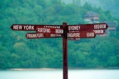 Kierunku Signboard Zdjęcia Royalty Free