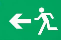 kierunku ucieczki znak Obraz Royalty Free