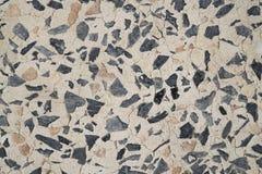 Kies auf Zementtabellenbeschaffenheit Stockbild
