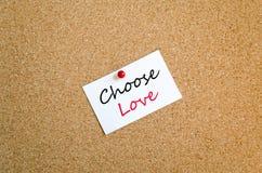 Kies Concept van de Liefde het Kleverige Nota stock fotografie