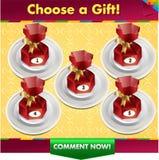 Kies een giftwinst een prijs Stock Afbeelding