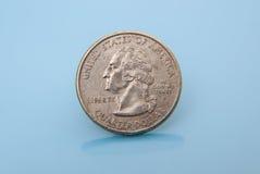 Kies gebruikte kwartdollar uit Royalty-vrije Stock Foto