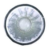 Kies gefacetteerd leeg glas vanaf bovengenoemde geïsoleerde bovenkant uit royalty-vrije stock afbeelding