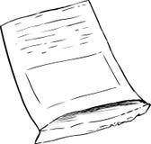 Kies Geschetst Zaadpakket over Wit uit Royalty-vrije Stock Fotografie