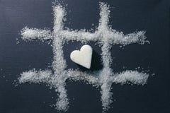 Kies hart uit stock afbeelding