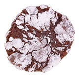Kies het vers gebakken, eigengemaakte geïsoleerde uit koekje van de chocoladekreuk stock foto's