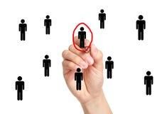 Kies Mensenstem of Werkgelegenheid Stock Fotografie