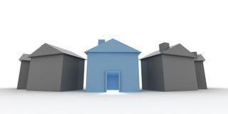 Kies uw huis Stock Foto's