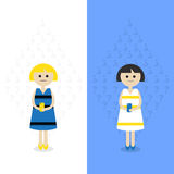 Kies Uw meisjeskleding Vector Illustratie