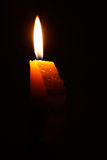 Kies vrij aangestoken kaars met vlam uit Royalty-vrije Stock Foto's