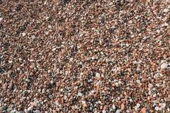 Kiesel auf dem Strand Beschaffenheit des Seeufers Das adriatische Meer Lizenzfreies Stockfoto