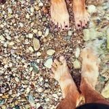 Kiesel auf dem Ufer des adriatischen Meeres Lizenzfreie Stockfotografie