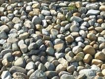 Kiesel und Sand Stockfoto