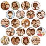 Kiest de hand getrokken beelden van families, paren, vrienden, siblings, uit stock illustratie