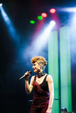 Kiesza in Moscow Royalty Free Stock Image