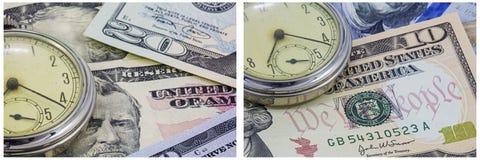 Kieszeniowego zegarka gotówki czasu ilustracja Fotografia Royalty Free