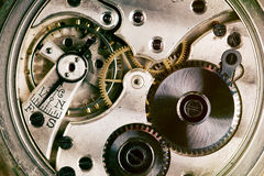 Kieszeniowego zegarka maszyneria fotografia royalty free