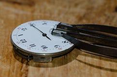Kieszeniowego zegarka ruch z ręka zmywaczem Obrazy Royalty Free
