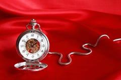 kieszeniowy czerwony zegarek Zdjęcia Stock
