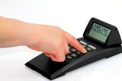 Kieszeniowy kalkulator Zdjęcia Royalty Free