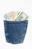 Kieszeniowy pieniądze Zdjęcie Royalty Free