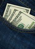 Kieszeniowy pieniądze Zdjęcia Stock