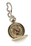 Kieszeniowy rocznika zegarek z łańcuchem obrazy royalty free