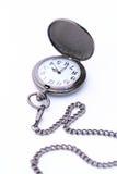 Kieszeniowy zegarek odizolowywający na białym tle Fotografia Stock