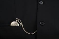 Kieszeniowy zegarek w garniturze Zdjęcie Royalty Free