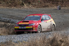 Kieth Cronin - British Rally Champion 2009 Stock Photography