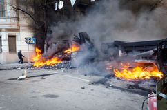 Kiev 19 february 2014 Stock Image