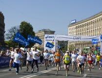 Kiev, 3-d international Kiev marathon Stock Photo