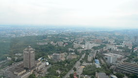 Kiev aerial cityscape view, ukraine travel, stock video footage