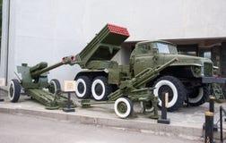 Kiev, artilharia no museu de WWII Imagem de Stock Royalty Free