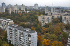 Kiev autumn cityscape Royalty Free Stock Image