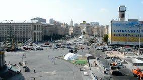 Kiev avant Jour de la Déclaration d'Indépendance, Ukraine, 2014, Photos stock