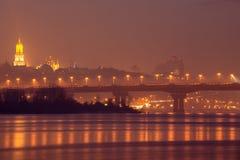 Kiev bij nacht Royalty-vrije Stock Foto