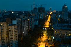 Kiev bij nacht 1 Stock Fotografie
