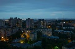 Kiev bij nacht 2 Stock Foto's