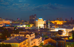 Kiev bij nacht ukraine royalty-vrije stock fotografie